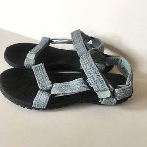 Teva blue sandals Sz 3
